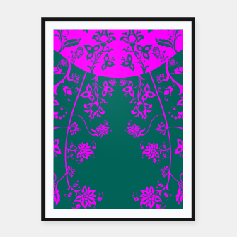 Thumbnail image of floral ornaments pattern vom90 Framed poster, Live Heroes