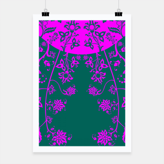 Thumbnail image of floral ornaments pattern vom90 Poster, Live Heroes