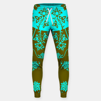 Thumbnail image of floral ornaments pattern vop150 Sweatpants, Live Heroes