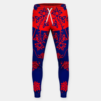 Thumbnail image of floral ornaments pattern vom30 Sweatpants, Live Heroes