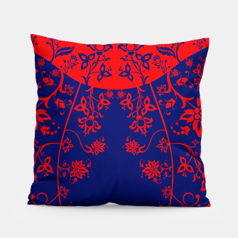 Miniatur floral ornaments pattern vom30 Pillow, Live Heroes