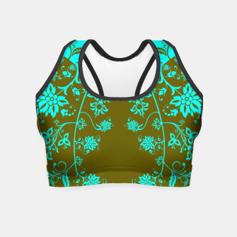 floral ornaments pattern vop150 Crop Top Bild der Miniatur