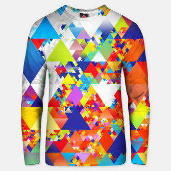 Miniaturka Colorful Triangles Pattern Unisex sweater, Live Heroes