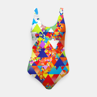 Miniaturka Colorful Triangles Pattern Swimsuit, Live Heroes