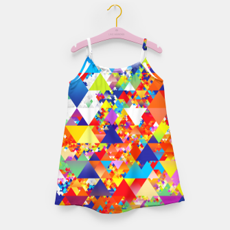 Miniaturka Colorful Triangles Pattern Girl's dress, Live Heroes
