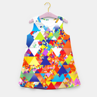 Miniaturka Colorful Triangles Pattern Girl's summer dress, Live Heroes