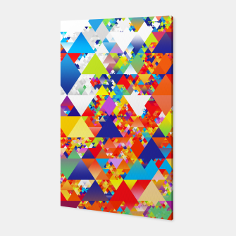 Miniaturka Colorful Triangles Pattern Canvas, Live Heroes