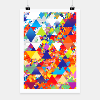 Miniaturka Colorful Triangles Pattern Poster, Live Heroes