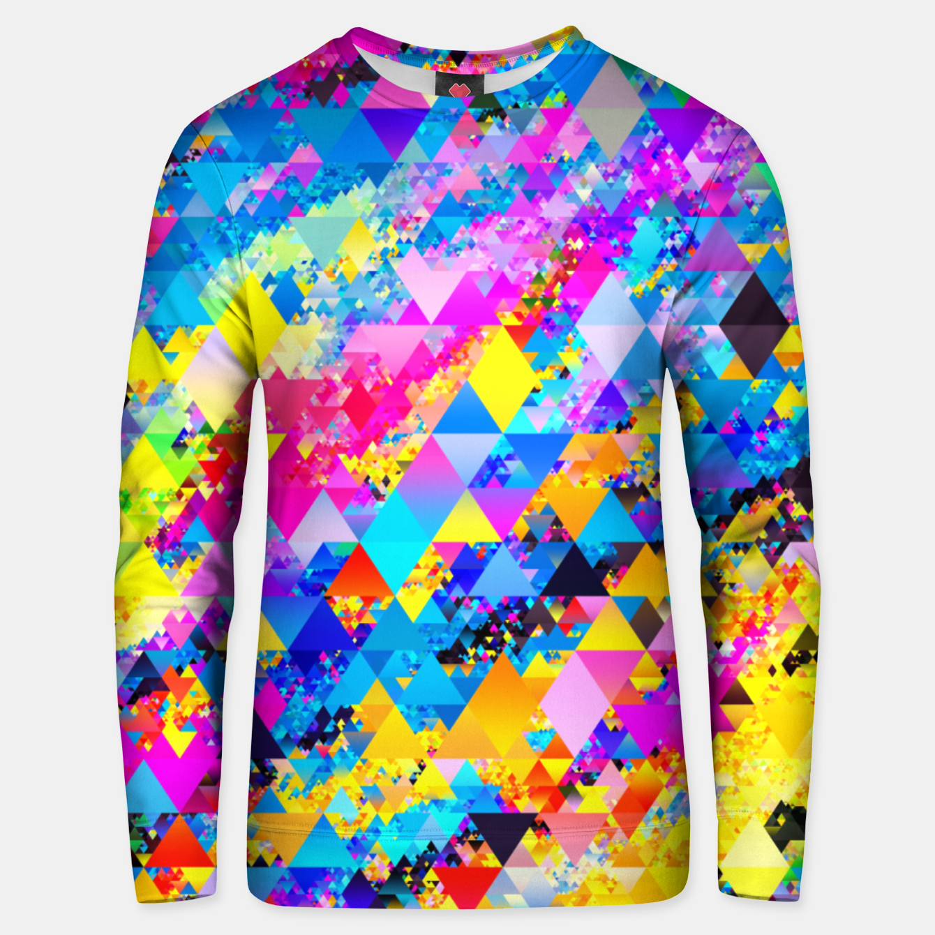 Zdjęcie Colorful Triangles Pattern Unisex sweater - Live Heroes