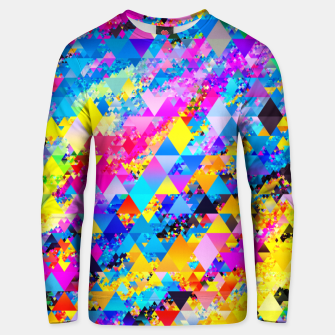 Colorful Triangles Pattern Unisex sweater obraz miniatury