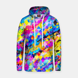 Colorful Triangles Pattern Hoodie obraz miniatury