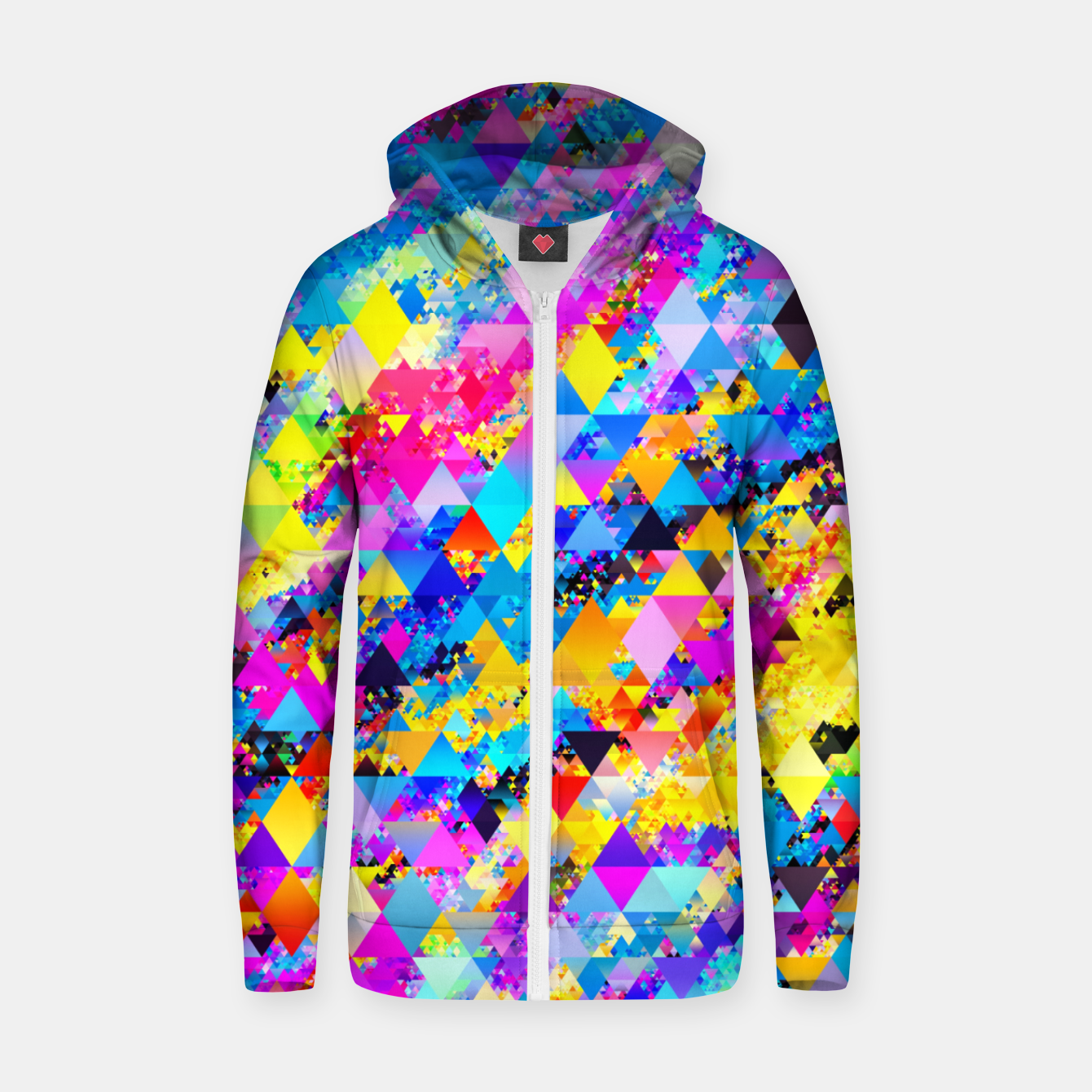 Zdjęcie Colorful Triangles Pattern Zip up hoodie - Live Heroes