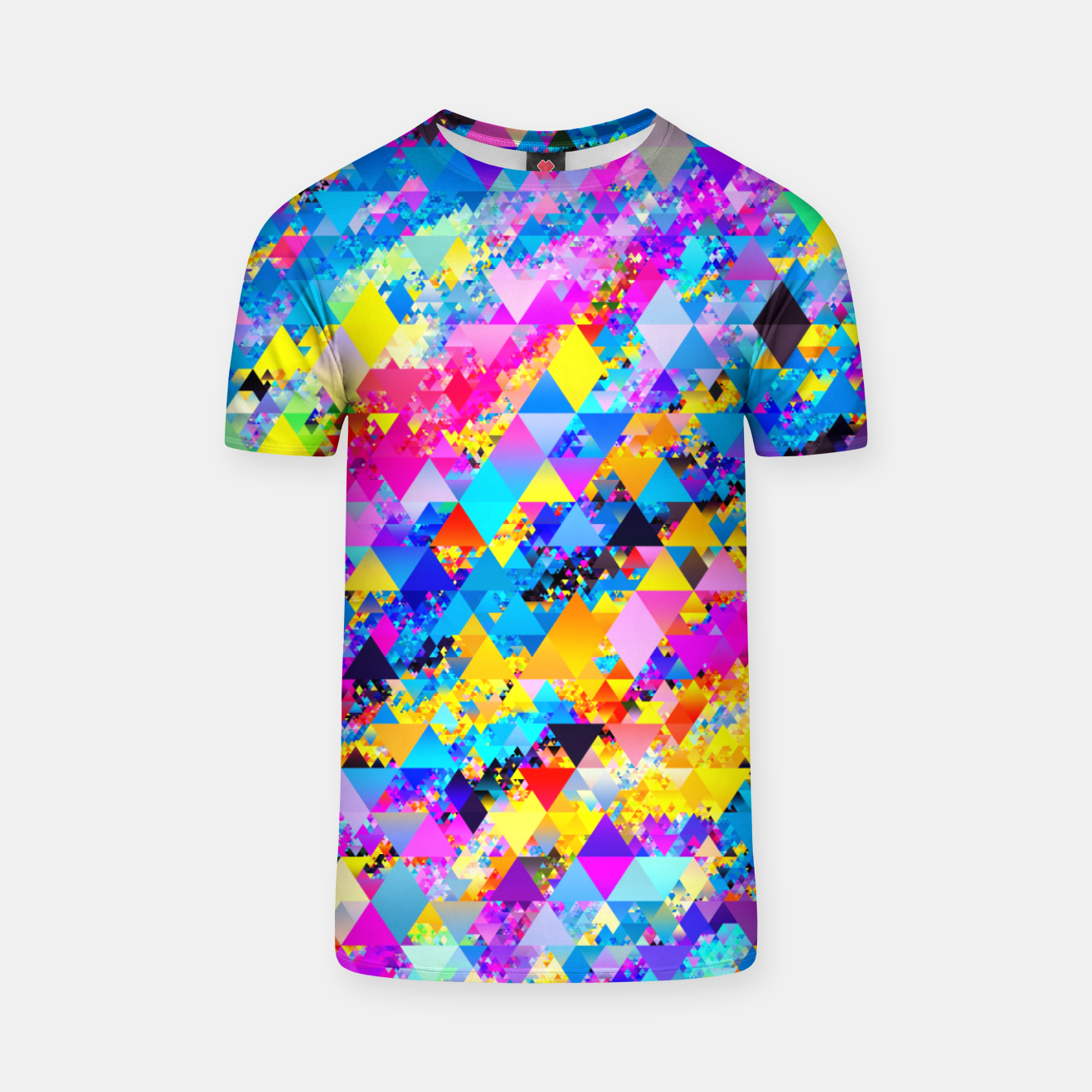 Zdjęcie Colorful Triangles Pattern T-shirt - Live Heroes