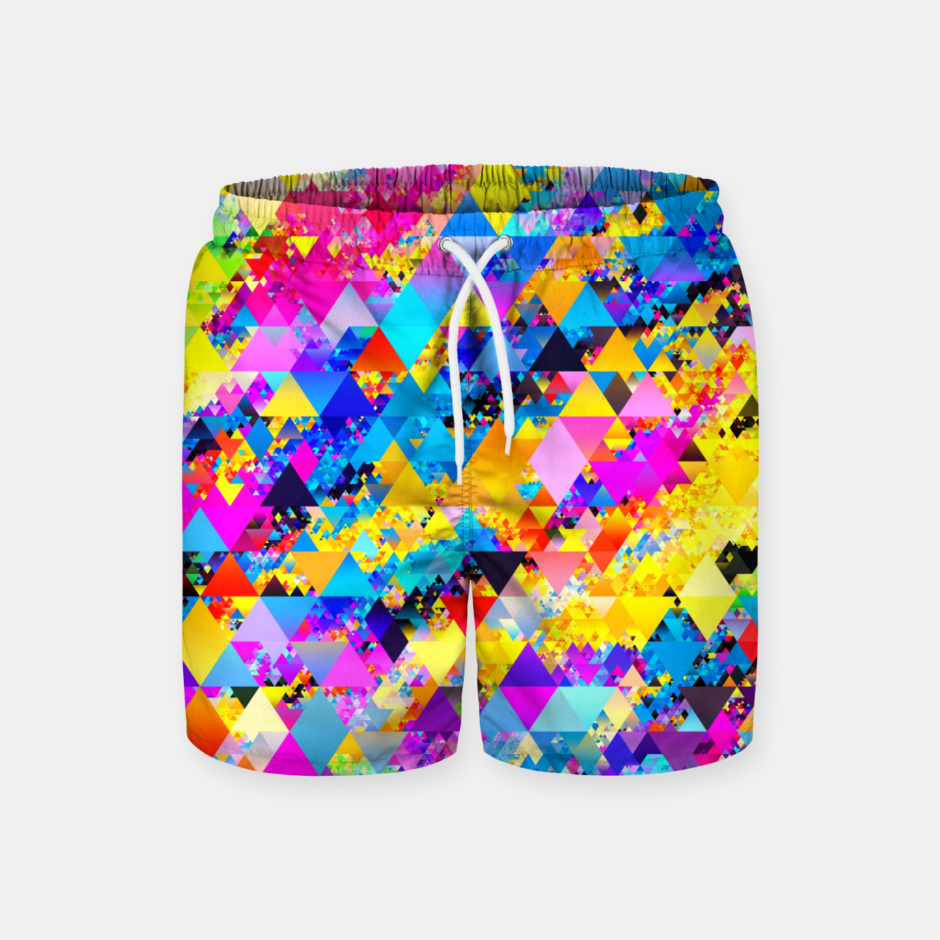 Zdjęcie Colorful Triangles Pattern Swim Shorts - Live Heroes