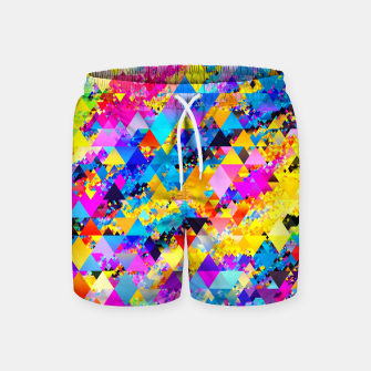Miniaturka Colorful Triangles Pattern Swim Shorts, Live Heroes