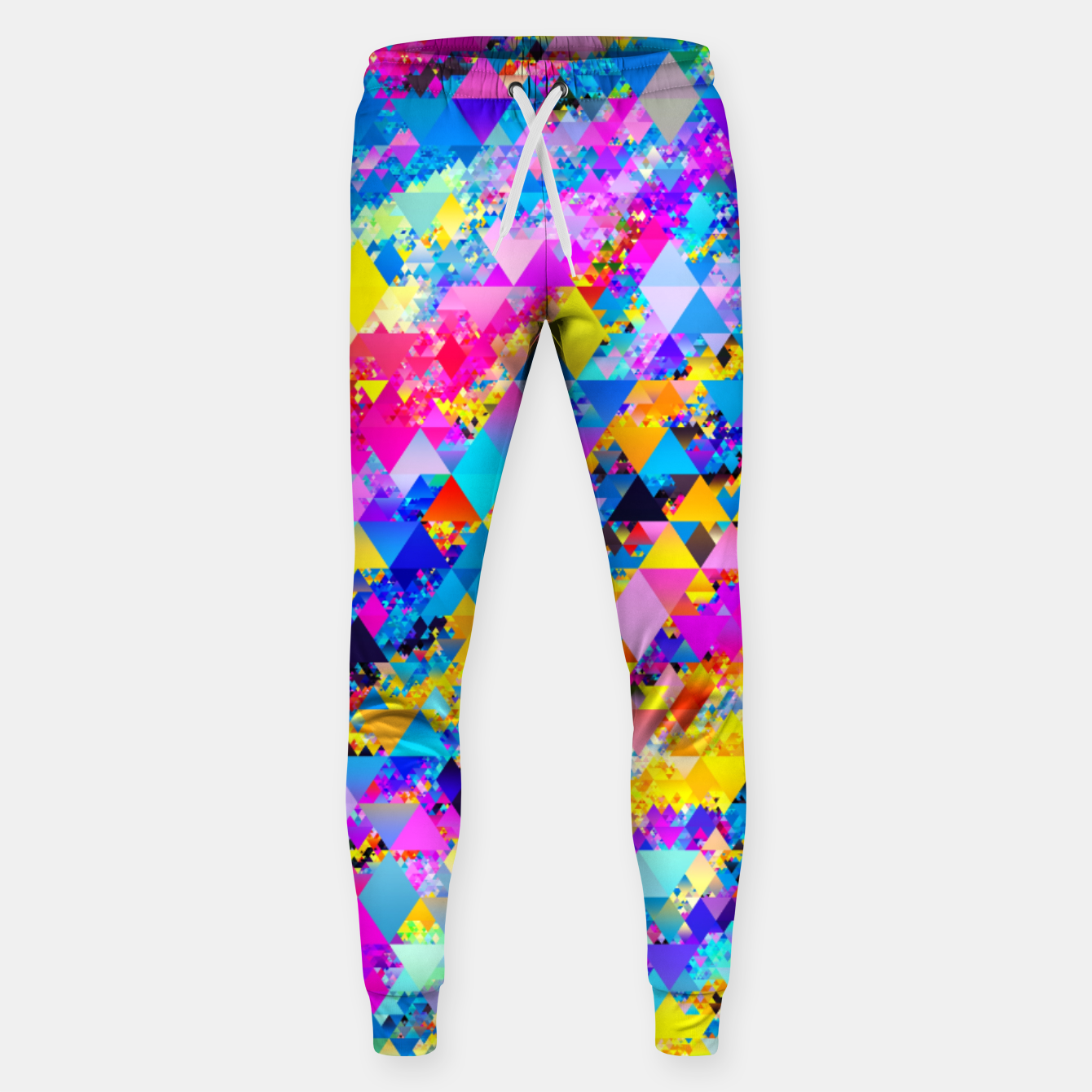 Zdjęcie Colorful Triangles Pattern Sweatpants - Live Heroes