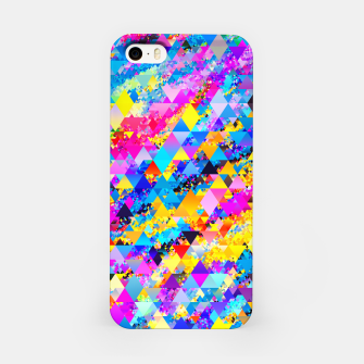 Miniaturka Colorful Triangles Pattern iPhone Case, Live Heroes