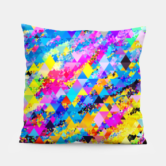 Colorful Triangles Pattern Pillow obraz miniatury