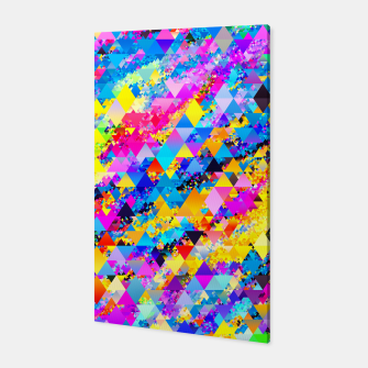 Colorful Triangles Pattern Canvas obraz miniatury