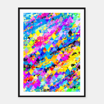 Colorful Triangles Pattern Framed poster obraz miniatury