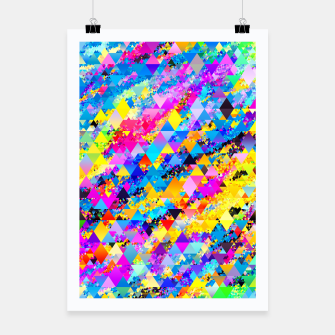 Colorful Triangles Pattern Poster obraz miniatury