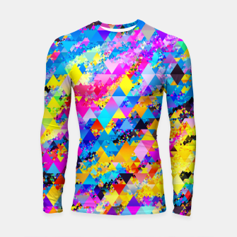 Colorful Triangles Pattern Longsleeve rashguard  obraz miniatury