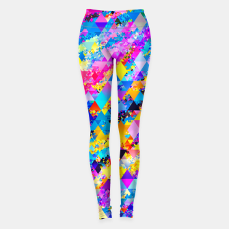Colorful Triangles Pattern Leggings obraz miniatury