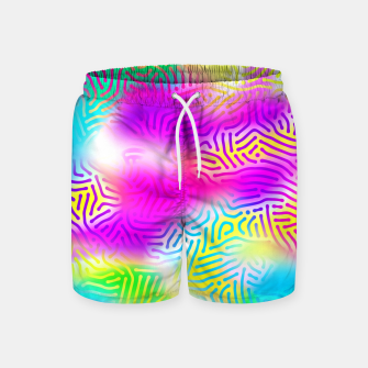 Miniaturka Colorful Pattern  Swim Shorts, Live Heroes