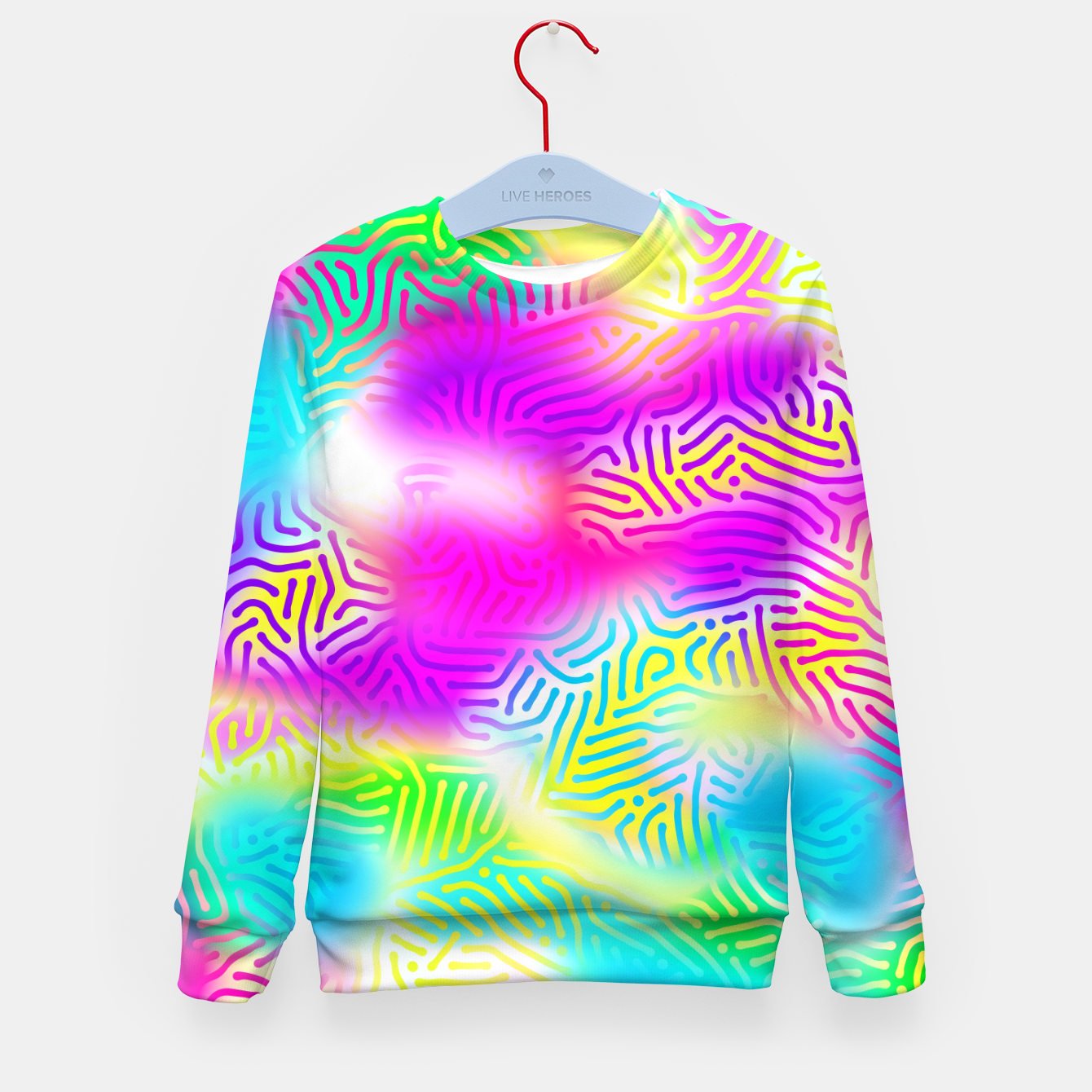 Zdjęcie Colorful Pattern  Kid's sweater - Live Heroes