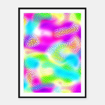 Colorful Pattern  Framed poster obraz miniatury