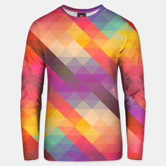 Thumbnail image of Geometric Triangles Unisex sweater, Live Heroes