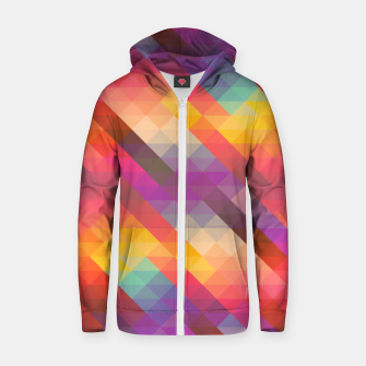 Thumbnail image of Geometric Triangles Zip up hoodie, Live Heroes