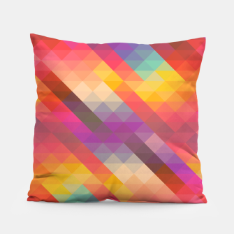 Thumbnail image of Geometric Triangles Pillow, Live Heroes