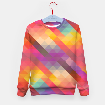 Thumbnail image of Geometric Triangles Kid's sweater, Live Heroes