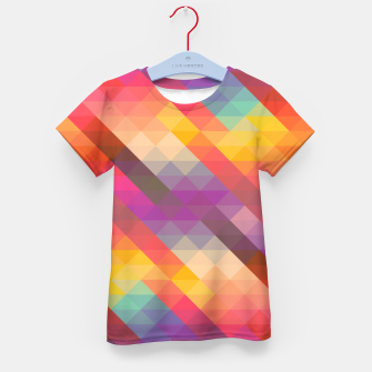 Thumbnail image of Geometric Triangles Kid's t-shirt, Live Heroes