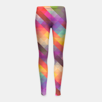 Thumbnail image of Geometric Triangles Girl's leggings, Live Heroes
