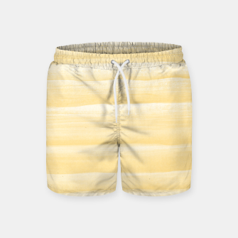 Miniature de image de Touching Yellow White Watercolor Abstract Stripe #1 #painting #decor #art  Badeshorts, Live Heroes