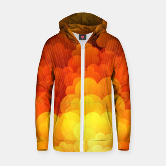 Thumbnail image of Abstract Clouds Zip up hoodie, Live Heroes