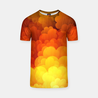 Thumbnail image of Abstract Clouds T-shirt, Live Heroes