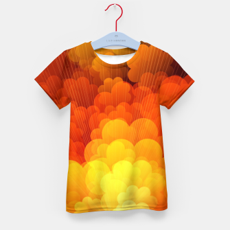Thumbnail image of Abstract Clouds Kid's t-shirt, Live Heroes