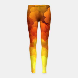Thumbnail image of Abstract Clouds Girl's leggings, Live Heroes