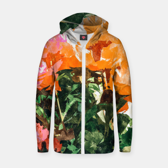 Thumbnail image of Blossoming Florals Zip up hoodie, Live Heroes