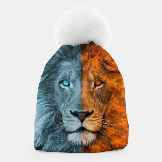 Thumbnail image of Frost and Fire Lion Beanie, Live Heroes