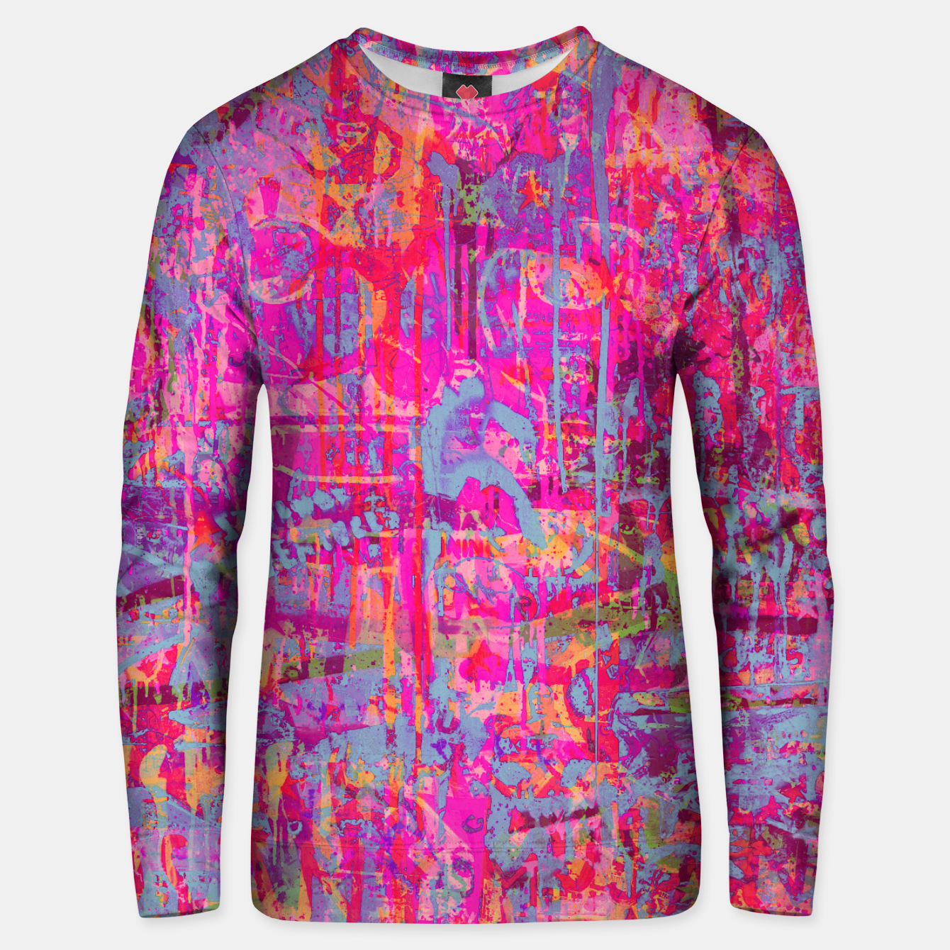Image of Pink Graffiti Unisex sweater - Live Heroes