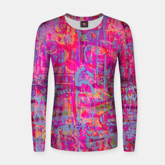 Pink Graffiti Women sweater obraz miniatury