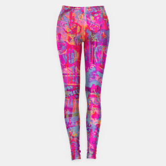 Pink Graffiti Leggings Bild der Miniatur