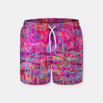 Pink Graffiti Swim Shorts thumbnail image