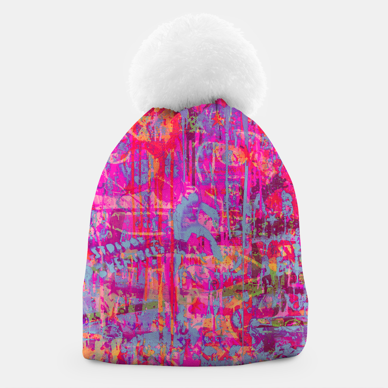 Image of Pink Graffiti Beanie - Live Heroes