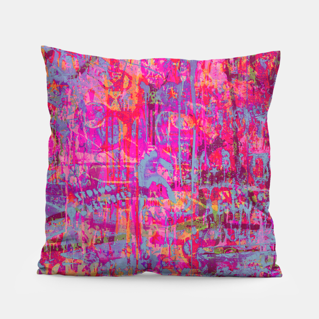 Image of Pink Graffiti Pillow - Live Heroes