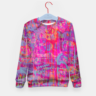 Pink Graffiti Kid's sweater Bild der Miniatur